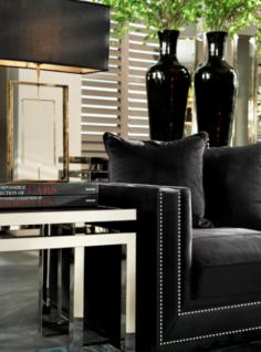 Casa Padrino Luxus Art Deco Designer Beistelltisch mit Rauchglas - Hotel Tisch Möbel - Vorschau 2