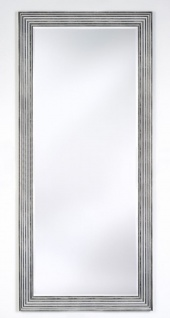 Casa Padrino Luxus Wohnzimmer Spiegel Silber / Schwarz 87 x H. 187 cm - Wohnzimmer Accessoires