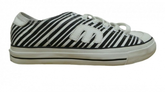 Etnies Skateboard Schuhe Damen Bernie White/Black/Print