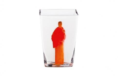 Handgearbeitete Vase aus Opalglas mit einem Motiv von Oskar Koller, Höhe 15 cm - feinste Qualität aus der Tettau Porzellanfabrik - wunderschöne Vase