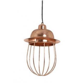 Casa Padrino Hängeleuchte Deckenleuchte Roségold Industrial Design Durchmesser 20 x H 30 cm - Industrie Lampe Leuchte Industrieleuchte - Vorschau