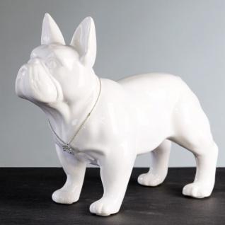 Designer Bulli weiss Höhe 29 cm, Länge 35 cm edle Skulptur aus Keramik - Edel & Prunkvoll