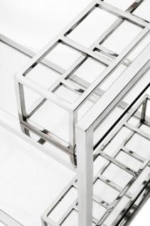 Casa Padrino Luxus Bar Trolley Servierwagen aus Edelstahl und Glas 80 x 48 x H. 77 cm - Luxus Hotel & Restaurant Einrichtung Möbel - Vorschau 2