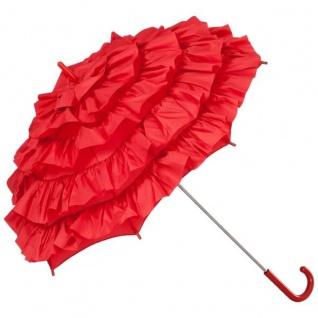 MySchirm Designer Brautschirm Hochzeitsschirm in rot - eleganter Schirm