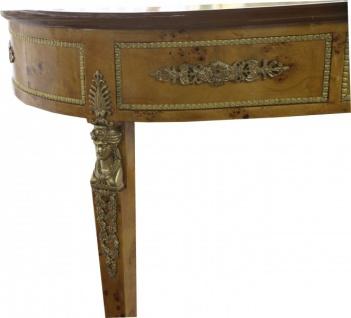 Casa Padrino Luxus Barock Empire Schreibtisch Sekretär mit 3 Schubladen 150 cm - Handgefertigt aus Massivholz - Barock Schreibtisch Büro Möbel - Vorschau 3