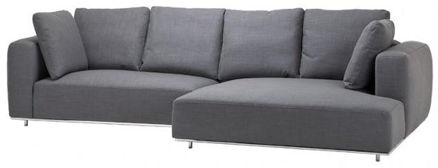 Casa Padrino Luxus Sofa Grau - Designer Ecksofa