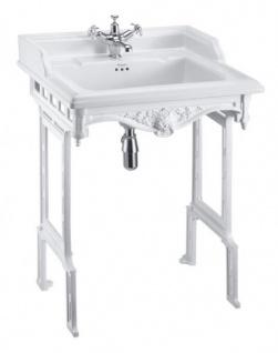 Casa Padrino Jugendstil Stand Waschtisch Weiß / Weiß - Barock Waschbecken Barockstil Antik Stil