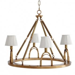 Casa Padrino Luxus Kronleuchter - Luxus Hängeleuchte Messing Durchmesser 70 x H 61 cm - Vorschau 1