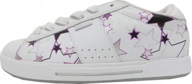 Osiris Skateboard Schuhe Serve Girls White/Berry/Stars