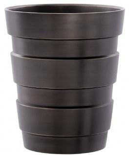 Casa Padrino Luxus Deko Messing Vase Bronzefarben Ø 19, 5 x H. 22, 5 cm - Moderne runde Blumenvase im Industrie Design - Luxus Qualität - Vorschau 1