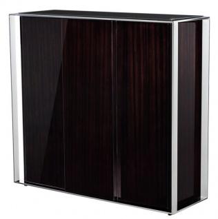 Casa Padrino Designer Weinschrank 130 x 42 x H. 120 cm - Luxus Kollektion