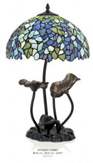 Handgefertigte Tiffany Hockerleuchte Tischleuchte Höhe 61 cm, Durchmesser 36 cm - Leuchte Lampe