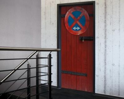 Tür 2.0 XXL Wallpaper für Türen 20008 No Parking - selbstklebend- Blickfang für Ihr zu Hause - Tür Aufkleber Tapete Fototapete FotoTür 2.0 XXL Vintage Antik Stil Retro Wallpaper Fototapete