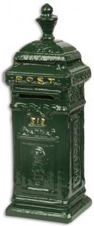 Casa Padrino Jugendstil Spardose im Standbriefkasten Design Grün / Gold 8, 1 x 7, 3 x H. 23, 9 cm - Deko Accessoires