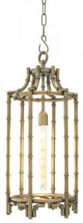 Casa Padrino Designer Hängeleuchte / Laterne Antik Messing 30, 5 x H. 69, 5 cm - Luxus Hängelampe