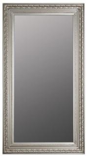 Casa Padrino Barock Wandspiegel Silber 72 x H. 132 cm - Handgefertigter Spiegel im Barockstil