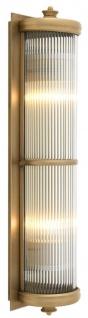 Casa Padrino Luxus Wohnzimmer Wandlampe Messing 13 x 11 x H. 52 cm - Hotel Möbel