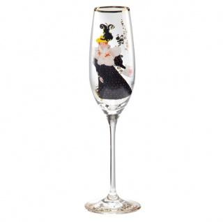 """Champagnerglas mit einem Motiv von T. Lautrec """" Luce Myres"""", 0, 19 Ltr. - feinste Qualität aus der Tettau Porzellanfabrik - wunderschönes Sektglas"""