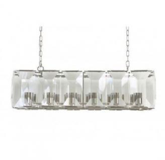 Casa Padrino Hängeleuchte Deckenleuchte Klar Industrial Design 104 x 33 x H 40 cm - Industrie Lampe Leuchte Industrieleuchte