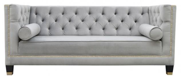 Casa Padrino Luxus Chesterfield Wohnzimmer Sofa 200 x 84 x H. 83 cm - Verschiedene Farben - Luxus Möbel