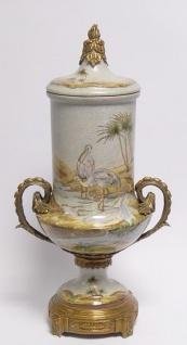 Casa Padrino Luxus Porzellan Krug mit Deckel und 2 Griffen 24, 5 x H. 46 cm