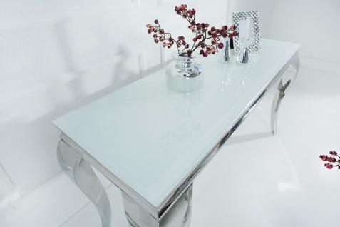 Casa Padrino Designer Konsole 140 cm Weiss / Silber - Modern Barock - Vorschau 2