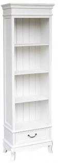 Casa Padrino Landhausstil Bücherschrank Weiß 53 x 30 x H. 178 cm - Landhausstil Möbel