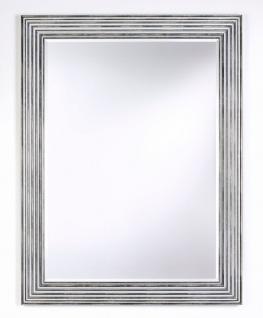 Casa Padrino Luxus Wohnzimmer Spiegel Silber / Schwarz 93 x H. 122 cm - Wohnzimmer Accessoires