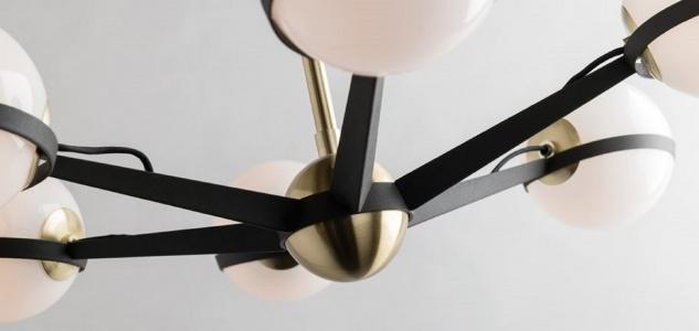 Casa Padrino Luxus LED Kronleuchter Bronze / Messing / Weiß Ø 70, 5 x H. 16, 5 cm - Kronleuchter mit kugelförmigen Lampenschirmen - Luxus Qualität - Vorschau 2