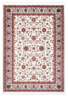 Casa Padrino Wohnzimmer Teppich mit orientalischen Ornamenten Cremefarben / Mehrfarbig - Verschiedene Größen