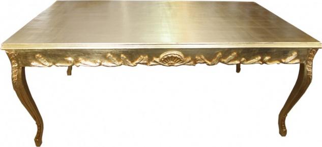 Casa Padrino Barock Esstisch Gold 200 x 99 cm Mod2 - Esszimmer Tisch - Möbel Antik Stil - Vorschau 5