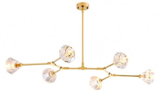 Casa Padrino Luxus Kronleuchter Gold 133 x 88 H. 14 cm - Hotel Restaurant Möbel