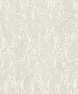 Casa Padrino Barock Wohnzimmer Tapete Weiß 10, 05 x 0, 53 m - Hochwertige Textiltapete
