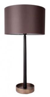 Casa Padrino Luxus Tischleuchte Schwarz / Bronze Ø 35 x H. 49 cm - Metall Tischlampe
