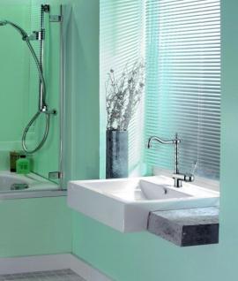 Luxus Bad Zubehör - Jugendstil Retro Waschbecken Armatur Waschtisch Einhand Waschtischbatterie Chrom Serie Milano - Made in Italy - Vorschau 2