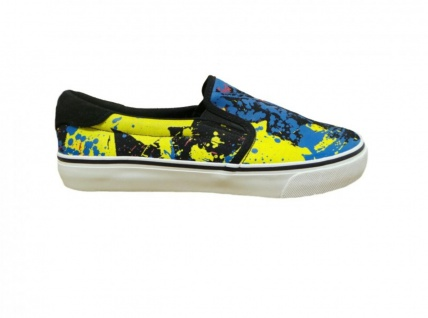 Fallen Skateboard Schuhe Slip On Loker Black/Paint