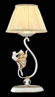 Casa Padrino Luxus Figuren Kristall Tischleuchte Weiß Gold / Lampenschirm Gold 23 x 47 cm - Leuchte - Luxury Collection