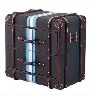 Casa Padrino Luxus Schubladen Schrank im Vintage Koffer Design Dunkelgrau - 2 Schubladen - Art Deco Barock Jugendstil Nachtschrank Nachtkommode
