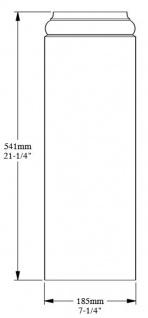 Casa Padrino Barock Wanddeko Sockel Weiß 18, 5 x 4, 1 x H. 54, 1 cm - Deko Zierelement Säulenfuß - Vorschau 3