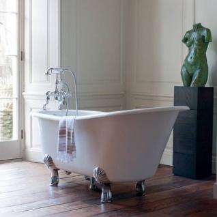 Casa Padrino Jugendstil Badewanne Naturstein freistehend 1700mm BHan Weiß - Freistehende Retro Barock Antik Badewanne