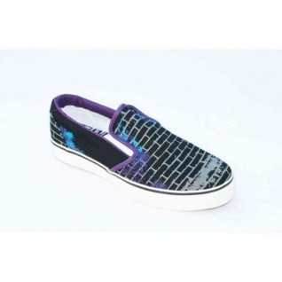 Osiris Skateboard Schuhe-- Scoop Slip On-- Black/ White Bricks Taile