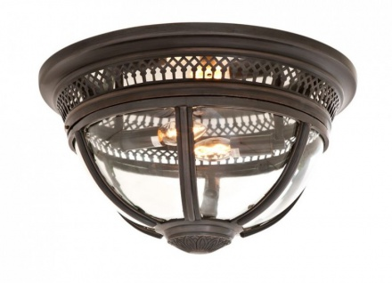 Casa Padrino Luxus Deckenleuchte Bronze Durchmesser 45 x H 30 cm Antik Stil - Möbel Lüster Deckenlampe - Vorschau 1