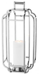 Casa Padrino Luxus Kerzenleuchter Silber 25 x 25 x H. 55 cm - Hotel Accessoires
