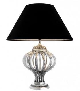 Casa Padrino Luxus Tischleuchte Antik Silber - Luxus Hotel Leuchte