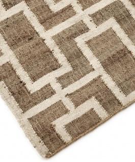 Casa Padrino Luxus Jute Teppich Naturfarben / Weiß 300 x 400 cm - Luxus Wohnzimmer Accessoires - Vorschau 2