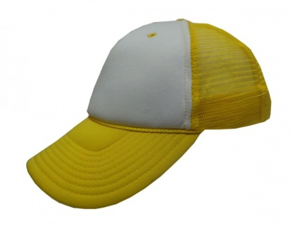 Mesh Trucker Cap Yellow/White - Skateboard BMX Surf Cap