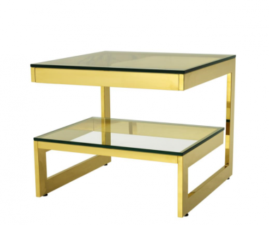 Casa Padrino Luxus Art Deco Designer Beistelltisch Gold - Hotel Tisch Möbel