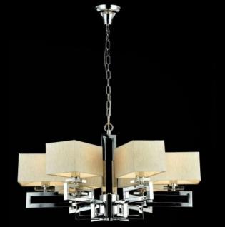 Casa Padrino Barock Decken Kronleuchter Nickel 70 x H 38 cm Modern Stil - Möbel Lüster Leuchter Hängeleuchte Hängelampe