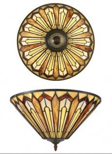 Casa Padrino Tiffany Deckenleuchte 40cm - Glas Mosaik Decken Lampe Leuchte