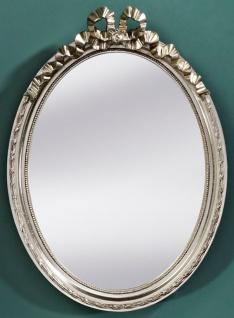 Casa Padrino Barock Wohnzimmer Spiegel Silber 36 x H. 50 cm - Wohnzimmermöbel im Barockstil